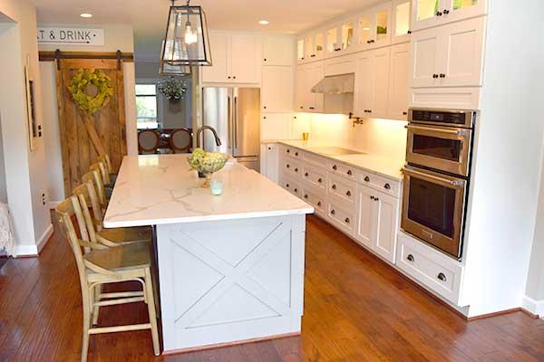 Hardwood Flooring & Island