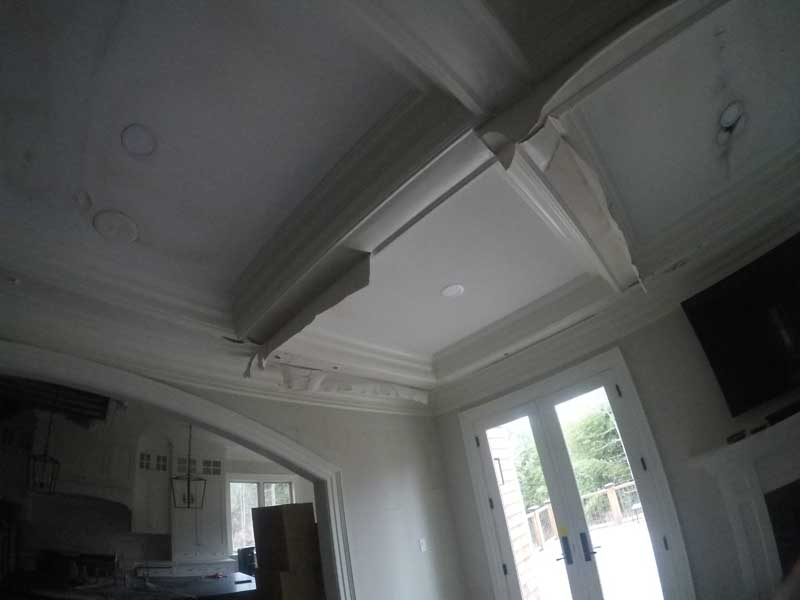 ceiling discolor from fire