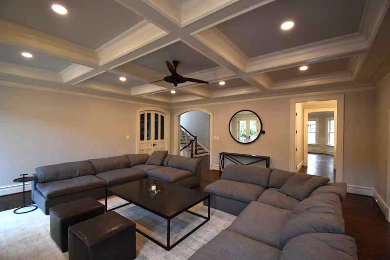 newly constructed ceiling